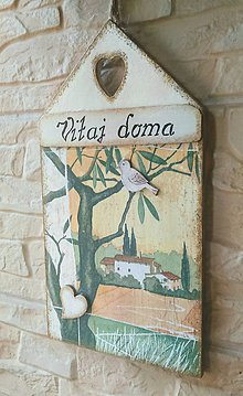Dekorácie - Tabuľka - VITAJ  DOMA - 9774897_
