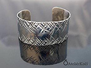 Náramky - Náramek kovaný z nerezu (Kovaný náramek vzor 1) - 9775701_