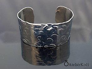Náramky - Náramek kovaný z nerezu (Kovaný náramek vzor 2) - 9775705_