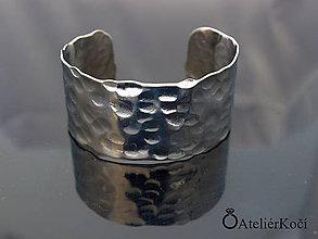 Náramky - Náramek kovaný z nerezu (Kovaný náramek vzor 3) - 9775715_