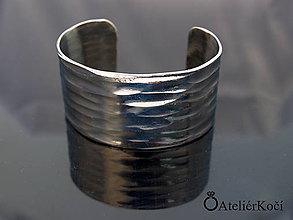 Náramky - Náramek kovaný z nerezu (Kovaný náramek vzor 4) - 9775719_