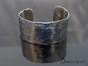 Náramky - Náramek kovaný z nerezu (Kovaný náramek vzor 5) - 9775722_
