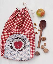 Úžitkový textil - Jabĺčko...vrecko na chlebík dvojvrstvové - 9775056_