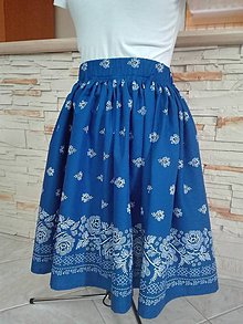 Sukne - Dámska folklórna sukňa (Modrá) - 9775958_