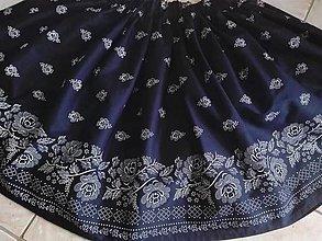 Sukne - Dámska folklórna sukňa (Modrá tmavá) - 9775961_