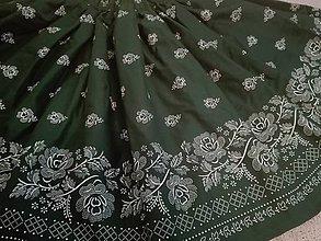 Sukne - Dámska folklórna sukňa (Zelená) - 9775962_