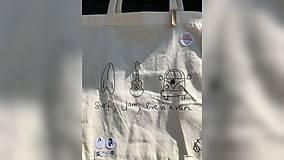 Iné tašky - ♥ Plátená, ručne maľovaná taška ♥ - 9774945_