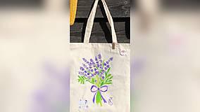 Iné tašky - ♥ Plátená, ručne maľovaná taška ♥ - 9775493_