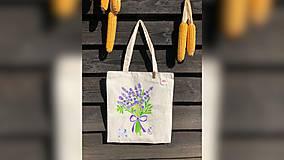 Iné tašky - ♥ Plátená, ručne maľovaná taška ♥ - 9775498_