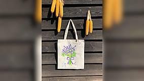 Iné tašky - ♥ Plátená, ručne maľovaná taška ♥ - 9775499_
