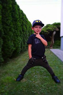 Detské oblečenie - Tepláky khaki - RVL - 9776170_