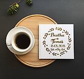 - Personalizovaná biela svadobná kniha hostí Laurel (Biela) - 9773933_