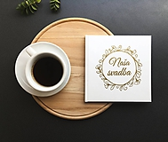 - Biela svadobná kniha hostí - flower  (Biela) - 9774072_