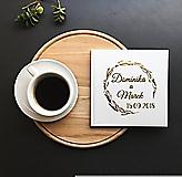 - Svadobná kniha hostí Meadow s menami, zlaté písmo (Biela) - 9774087_
