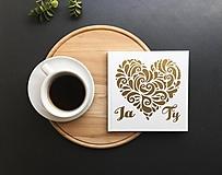- Svadobná kniha hostí Gold Heart Ty a ja (Biela) - 9774135_