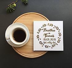 Papiernictvo - Personalizovaná biela svadobná kniha hostí Laurel - 9773933_