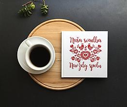 Papiernictvo - Svadobná kniha hostí Naša svadba Birds Folk Edition - 9774130_