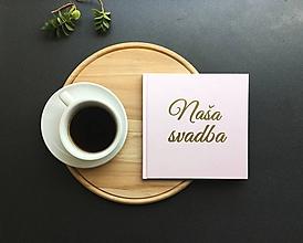 Papiernictvo - Ružová svadobná kniha hostí - 9774140_