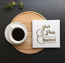 Papiernictvo - Personalizovaná svadobná kniha hostí Pán a pani - 9774147_