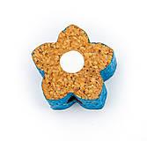 Korálky - Kvet modrý - 9773875_