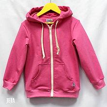 Detské oblečenie - Mikina s kapucou ružová - 9774872_