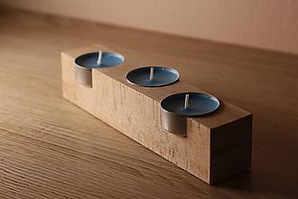 Svietidlá a sviečky - Drevené svietniky - 9776048_