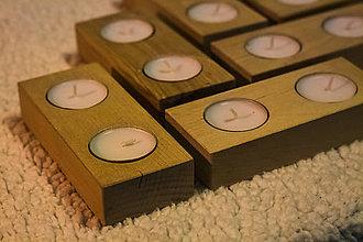 Svietidlá a sviečky - Drevené svietniky - 9776080_