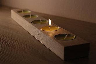 Svietidlá a sviečky - Drevené svietniky - 9776104_