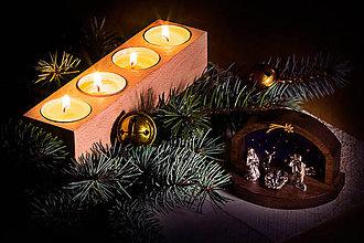 Svietidlá a sviečky - Drevené svietniky - 9776122_