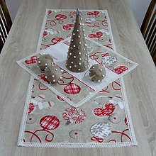 Úžitkový textil - Severské Vianoce - obrus obdĺžnik 115x40 - 9775761_