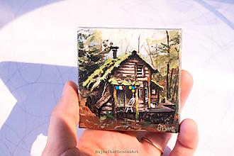 Magnetky - Mini magnetka Domček - 9774761_