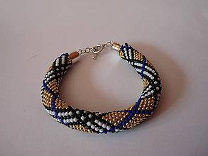 Náramky - Modrý náramok so vzorom - Burberry - 9778968_