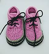 Topánočky - Háčkované tenisky- trampky. (Žltá) - 9778851_