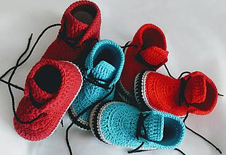Topánočky - Háčkované tenisky- trampky. (Žltá) - 9778843_