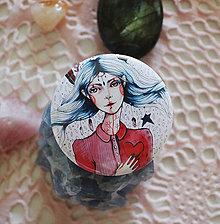 Odznaky/Brošne - Bumpkinovej Butón/ Biela čarodejka - 9778770_