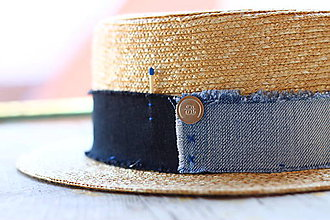Čiapky - Letný slamený klobúk FREE unisex - 9776394_