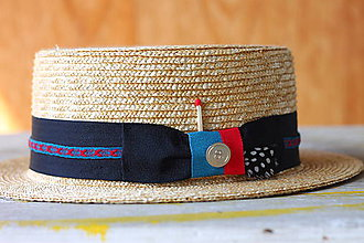Čiapky - Letný slamený klobúk FREE unisex - 9776409_