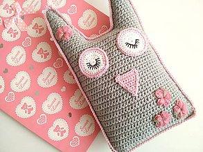 Textil - Sovička na spinkanie aj na hranie :) - 9777388_