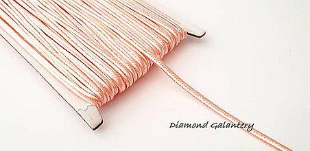 Galantéria - Sutaška 3 mm - púdrovo ružová - 9778538_