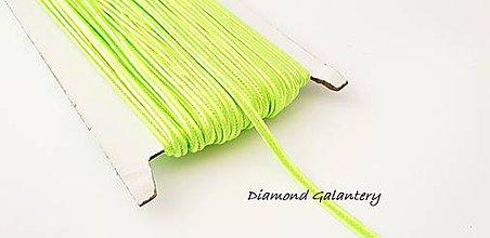 Galantéria - Sutaška 3 mm - neónovo zelená - 9778547_
