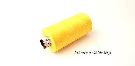 Galantéria - Polyesterová niť Amann -ASPO 120 - žltá - 9778865_