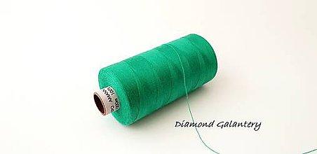 Galantéria - Polyesterová niť Amann -ASPO 120 - zelená - 9778867_