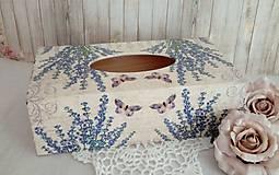 Krabičky - Krabica na vreckovky - 9776756_