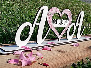 Iné doplnky - Svadobný nápis na stôl - 9778988_