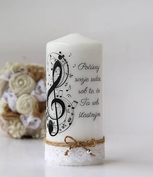 Dekoračná sviečka pre hudobníka