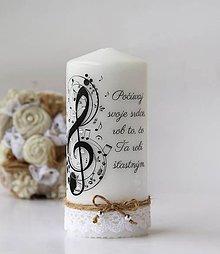 Svietidlá a sviečky - Dekoračná sviečka pre hudobníka - 9777875_
