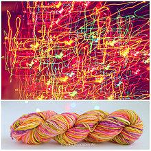 Galantéria - NEON LIGHT FLUORESCENT SELF STRIPING - ručne farbená priadza - 9776401_