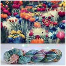 Galantéria - CACTUS FLOWER - ručne farbená vlna - 9776471_