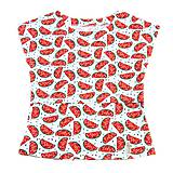 Tehotenské oblečenie - BIO tričko na dojčenie - melóniky - 9777929_