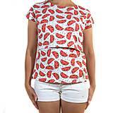 Tehotenské oblečenie - BIO tričko na dojčenie - melóniky - 9777931_